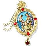 Holy Family Icon Pendant Jeweled Catholic Orthodox Icon Gift Sy Mary Jesus Joseph