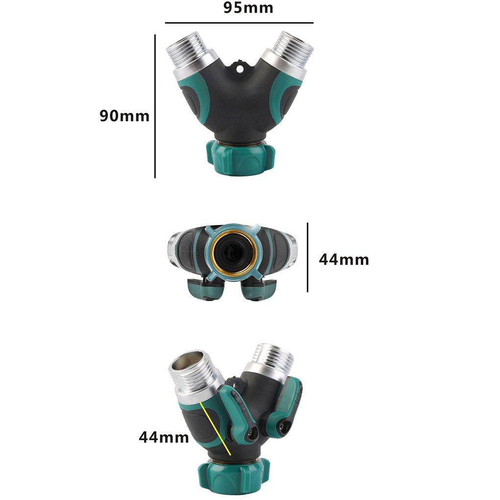 2-Wege Schlauch Splitter Y Form Ventil Wasser Rohrverbinder Adapter Bewässerung