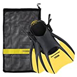 US Divers Trek Travel Fin With Mesh Carrying Bag, Yellow, Small