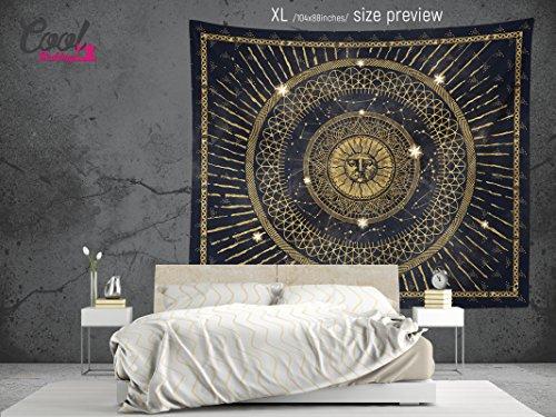 Аncient Sun Mandala Wall Tapestry, Bohemian Wall Hanging, Boho Wall