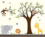 Nursery Wall Sticker-Wall Decals-Jungle Wall Decal-Wall Stickers-Animal Wall Decals-Vinyl Wall Decal