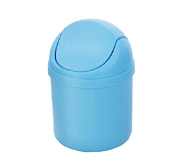 Hflove Desktop Trash Can Mini Plastic Countertop Small With Swing Top Lid