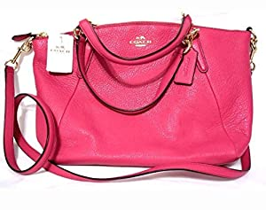 c6975be460825 ... cheap coach pebble leather small kelsey satchel crossbody bag bright  pink. upc 889532699520 product image1