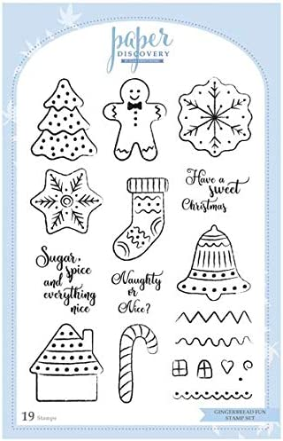 Paper Discovery Die /& Stamp Set Gingerbread Fun Set of 28