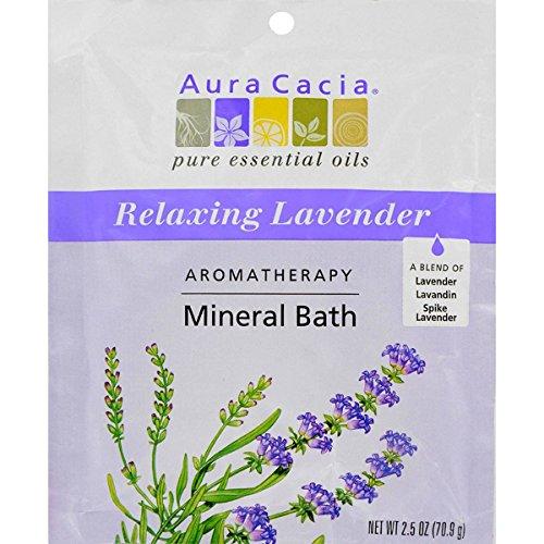 Aura Cacia Lavender Harvest Aromatherapy Mineral Bath Salt, 2.5 Ounce - 6 per case.