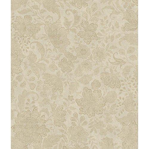 York Wallcoverings AR7775 Charleston Brushstroke Canvas Wallpaper, Gold/Grey