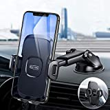 TORRAS Cell Phone Holder for Car Dashboard Windshield Vent Semi-Auto[Military Grade]Car Phone Mount with Upgraded Suction fit with iPhone 11 Pro Max XR XS X 8 Plus, Samsung Galaxy Note10 plus and More