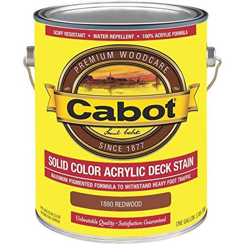 - Cabot Solid Color Acrylic Deck Stain - 140.0001880.007 Pack of