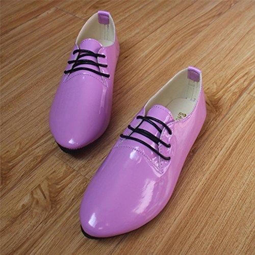 de Brillantes Planos Se P Elegante Zapatos Cordones Bailarinas con Zapatos Retro y ora Moda 51dTTSqw