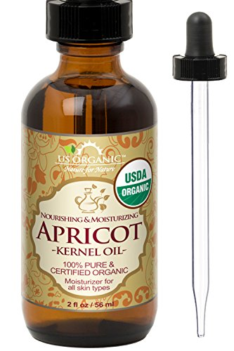 - US Organic Apricot Kernel Oil, USDA Certified Organic,100% Pure & Natural, Cold Pressed Virgin, Unrefined in Amber Glass Bottle w/Glass Eyedropper for Easy Application (2 oz (56 ml))