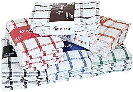 Paños de cocina de rizo 100% algodón, muy absorbentes, de B. Home ...