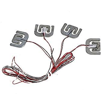 cnbtr plata 75 kg báscula electrónica de medio puente cuerpo célula de carga sensor de pesaje yzc-1616 Juego de 4: Amazon.es: Amazon.es
