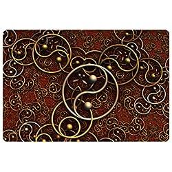 Fashion Retro Gothic Carpet Rug Carpets Living Room 2mm Thicken Big Round Floor Carpets For Living Room Bathroom Circle Mat Rug (4)