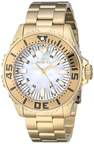 Invicta Men's 17695 Pro Diver Analog Display Swiss Quartz Gold - Plated Swiss Gold Watch