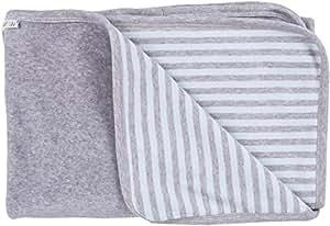 iobio Baby techo Nicky Blue de Grey Striped bio algodón de 90x 70cm