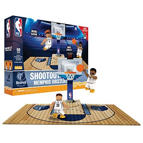 (OYO NBA Memphis Grizzlies Display Blocks Shootout Set, Small, No Color)
