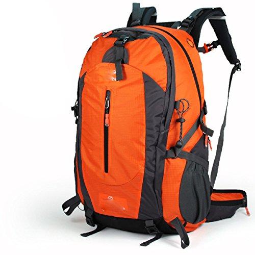 50L Outdoor Mountaineering Bolso Hombres Y Mujeres Bolsa De Hombro Viaje Pareja Mochila De Paseo,Blue Orange