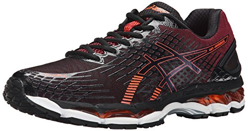 ASICS Men's Gel Nimbus 17 Running Shoe, Black/Hot Orange/Deep Ruby, 8.5 M US