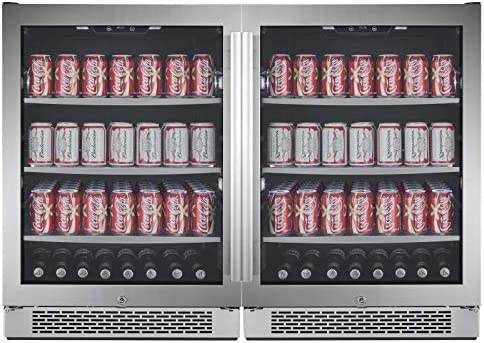 Avallon ABR241SGDUAL 140 Can 140 Can Built-In Side-by-Side Beverage Cooler