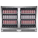 Avallon ABR241SGDUAL 152 Can + 152 Can Built-in Side-by-Side Beverage Cooler