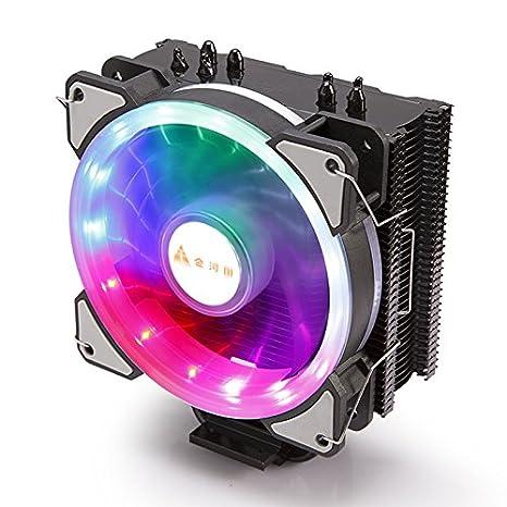 Prozessork/ühler f/ür Intel Sockel 1151//1155//1156//1150 Blau GOLDEN FIELD LY2 CPU K/ühler mit 135 mm Heiligenschein LED L/üfter