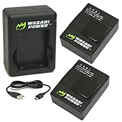 Wasabi Power Battery (2-pack) & Dual Charger For Gopro Hero3, Hero3+ & Gopro Ahdbt-201, Ahdbt-301, Ahdbt-302, Ahbbp-301
