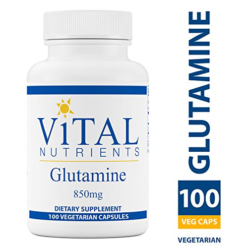 Vital Nutrients - Glutamine 850 mg - Gastrointestinal and Immune Support - 100 Capsules by Vital Nutrients