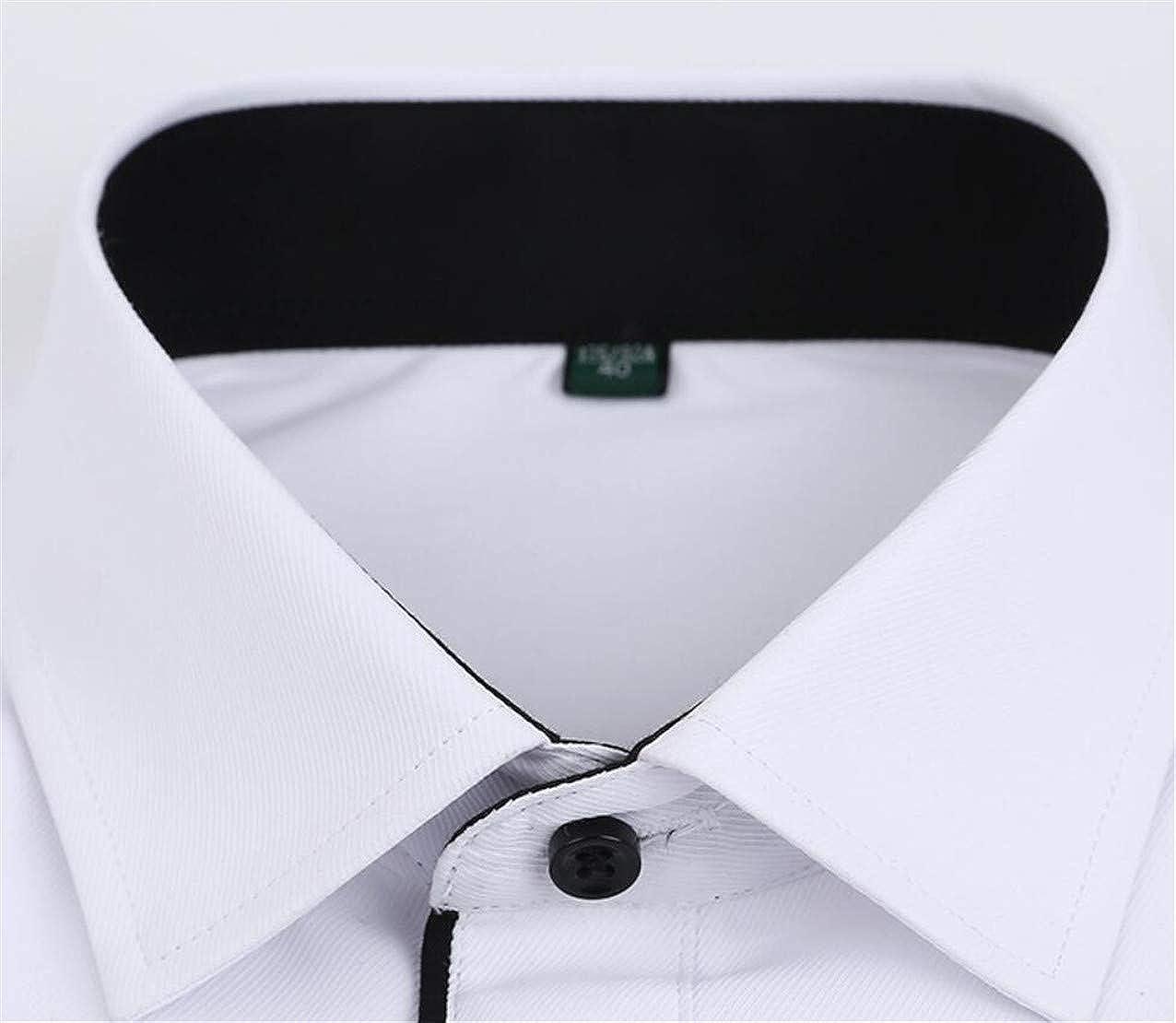 Zantt Mens Classic Work Long Sleeve Non-Iron Formal Button Down Dress Shirts