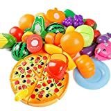 NUMBERNINE,New Kitchen Food Pretend Play Toy Cutting Vegetable Fruit Children Gift Set 24PC,toy food set