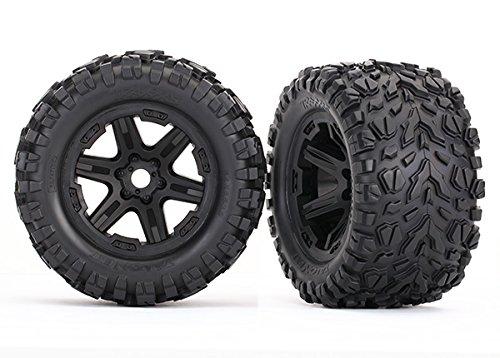 Traxxas 8672 Reifen auf Felge schwarz montiert (Talon EXT 3.8)