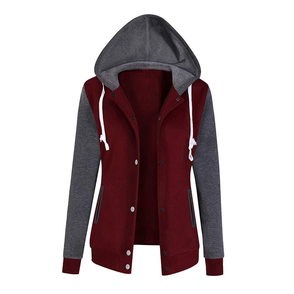 Laimeng_world Clothes SHIRT レディース B07HV5GCLG ワインレッド X-Large