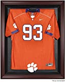 Clemson Tigers Mahogany Framed Logo Jersey Display Case