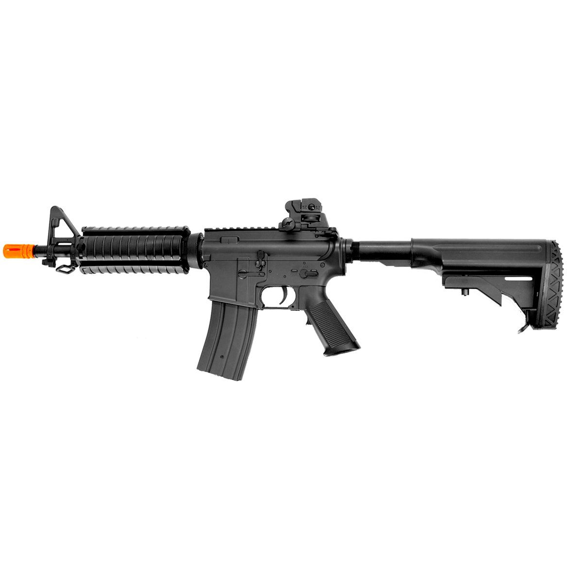 MetalTac JG FB-6624 Electric Airsoft Gun CQB with Rail Mounting System, Full Metal Body, Metal Gearbox Version 2, Auto AEG, Upgraded Powerful Spring 410 Fps with .20g BBs
