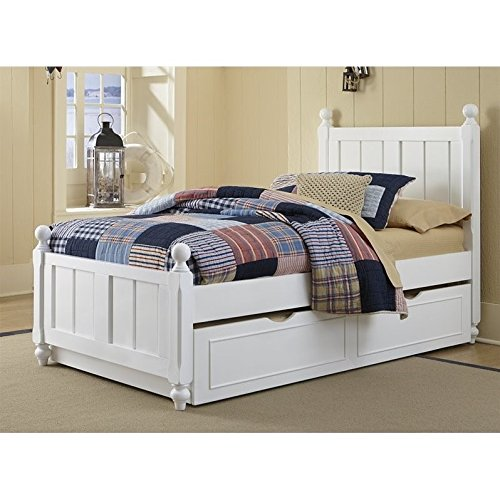 Hillsdale Kids and Teen Lake House Kennedy Twin Bed with Trundle in White