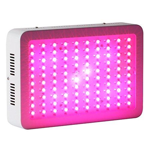 Roleadro 300W LED Pflanzenlampe für Gewächshaus Pflanze Bluete im Growbox Weiß mit IR UV Licht für Zimmerpflanzen (308*208*60mm)