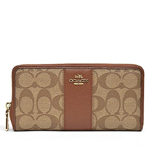 COACH SIGNATURE LEATHER ACCORDION WALLET