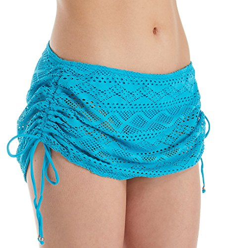 Freya Sundance Skirted Bikini Bottom, L, Deep - Brief Bikini Deep