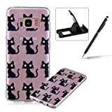 Glitter Case for Samsung Galaxy S8,Crystal TPU Cover for Samsung Galaxy S8,Herzzer Ultra Slim Creative [Colorful Pattern] Bling Sparkly IMD Design Shock-Absorbing Soft Silicone Gel Bumper Cover Flexible TPU Transparent Skin Protective Case