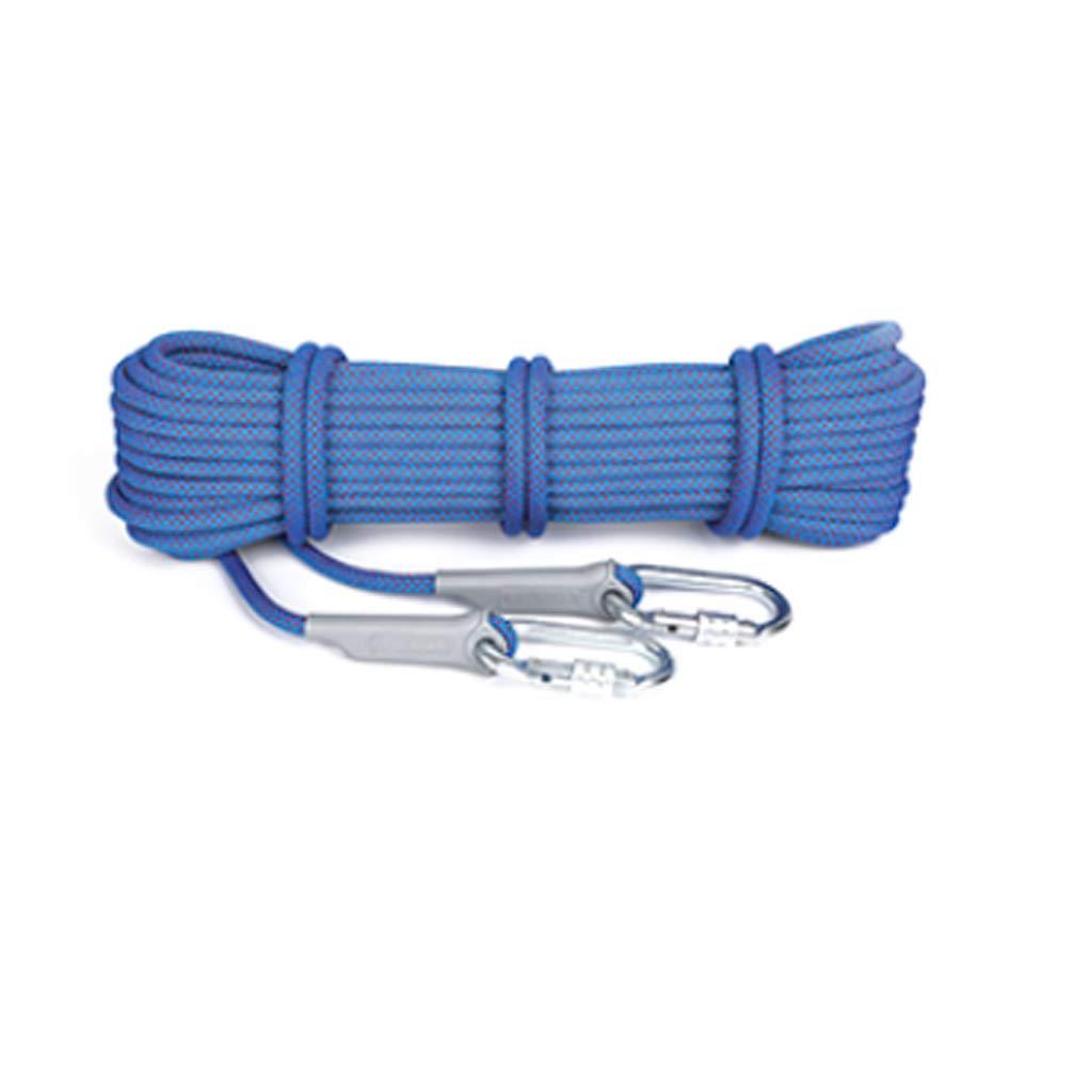 クライミングロープ、Mutil用ホームロープ10.5mm直径、100mロングアウトドアラッピングアブソーティングアクセサリー、25KN Escape高抵抗ロープ (色 : 青, サイズ さいず : 100m) 100m 青 B07P4DJNB6