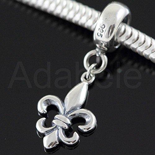 925 Sterling Silver Charms For Charm Bracelet Fleur