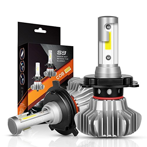 H4 LED Headlight Bulbs Autofeel 9003 12V 5000LM 360‹Beam Angle Built-in Driver Lamp All-in-One Conversion Bulb Kit High Low Beam with Cool White Lights - 1 Year Warranty - Conversion Kit Honda Element