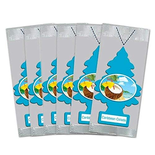Little Trees Car Air Freshener 6-Pack (Caribbean Colada) from Little Trees