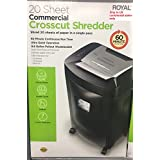 Royal Commercial Grade Crosscut Paper Shredder - Heavy Duty - 20 Sheet NEW (20 sheet)