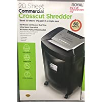 Royal Commercial Grade Crosscut Paper Shredder - Heavy Duty - 20 Sheet NEW (20 sheet)