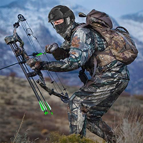 QZY Casque PJ Fast Tactical avec Masque pour Le Visage Couvre-Chef Polyvalent - Casque D'entraînement Multifonctionnel… 4