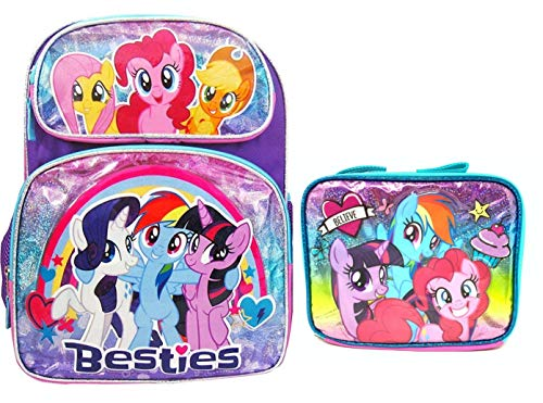 My Little Pony 3D Embossed Backpack and Insulated Lunch Tote -