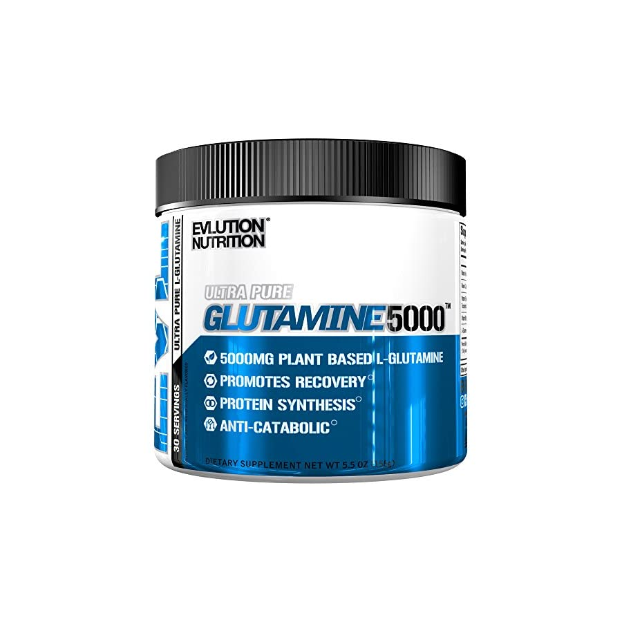 Evlution Nutrition Glutamine 5000 5 Grams of Pure Glutamine in Each Serving Unflavored Powder (60 Servings)