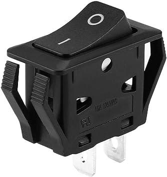 Interruptor basculante Doble polo Tiro sencillo Enclavamiento Interruptor oscilante Montaje en panel Nylon 6.6 Caja IP40 Enclavamiento Interruptor oscilante Montaje en panel: Amazon.es: Coche y moto