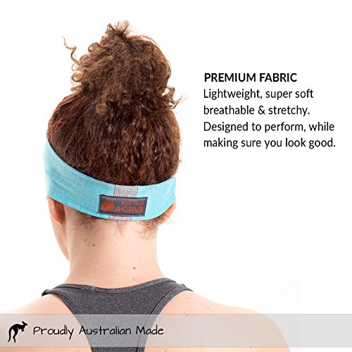 Red Dust Active Lightweight Sports Headband - Non Slip Moisture Wicking Sweatband - Ideal for Running, Cycling, Yoga and Athletic Workouts - by Twin Pack by Red Dust Active (Image #5)