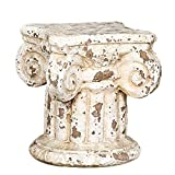 Creative Co-Op HD5916 Chateau Distressed Cream Terra Cotta Column Pedestal